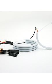 131mm halve cirkel achtbaan bicolor witte amber knipperlichten voor BMW e36 e38 e39 e46 projector