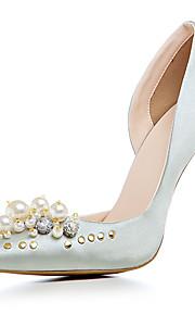 Femme-Mariage Habillé Soirée & Evénement-Or Noir Argent-Talon Aiguille-club de Chaussures-Chaussures à Talons-Satin Matières