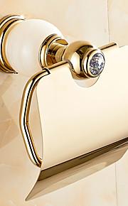 European Style Solid Brass Crystal Gold Bathroom Shelf Bathroom Toilet Paper Holders Bathroom Accessories