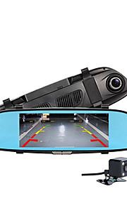 Nieuwe 6,5 twee split view auto cam hd 1080p auto monitor camera recorder achteruitzicht dvr spiegel auto camera