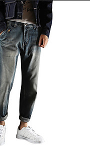 Heren Street chic Medium taille Slank Skinny Inelastisch Jeans Chinos (zwaar katoen) BroekEffen