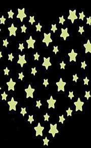 Геометрия Наклейки Светящиеся наклейки Декоративные наклейки на стены,Винил материал Украшение дома Наклейка на стену