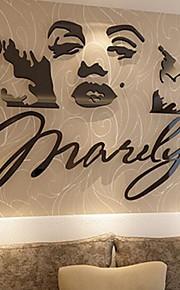 Мультипликация Наклейки 3D наклейки Декоративные наклейки на стены,Стекло материал Украшение дома Наклейка на стену