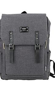 15,6 tommer ultra lys bærbar computer rygsæk koreansk stil skulder taske vandtæt ren farve unisex