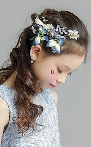 Fabric Headpiece-Wedding Special Occasion Casual Office & Career Outdoor Wreaths 1 Piece