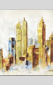Pintados à mão Abstrato Quadrangular,Moderno Clássico 1 Painel Tela Pintura a Óleo For Decoração para casa