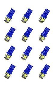 20pcs t10 5 * 5050 smd led lampje bule light dc12v