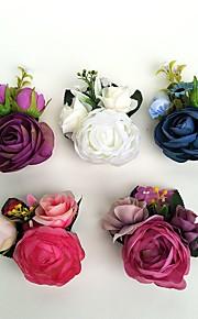 Brudebuketter Friform Roser Rose I Revers Bryllup Fest & Aften Satin