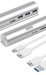 Unitek 3 Portit USB-keskitin USB 3.0 Lanka hallinnoimiseen Data Hub