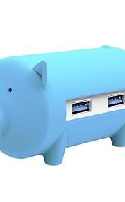 3 Portit USB-keskitin USB 3.0 Kortinlukijalla (t) OTG Data Hub