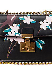 Women Shoulder Bag PU All Seasons Casual Outdoor Rectangle Clasp Lock Blushing Pink Black White