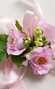 Bouquet sposa Braccialetto floreale Matrimonio Taffetà 7 cm ca.