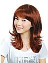 capless longueur moyenne europeenne auburn perruque de cheveux synthetiques armure (jf1128)