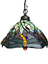 Clearance!Dragonflies Tiffany Pendant Light.Input Voltage:220V