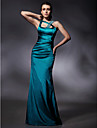 TS Couture® Formal Evening / Military Ball Dress - Open Back Plus Size / Petite Trumpet / Mermaid Straps Floor-length Stretch Satin with Beading /