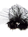 Gorgeous Satin/Tulle With Rhinestones/Feather Wedding Bridal/Party Headpiece