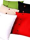 linne färg kuddfodral (bottenförslutning)