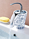 Art Deco/Retro Centerset Singel Handtag Ett hål in Målning Badrum Sink kran