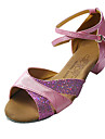Leatherette/ Sparkling Glitter Upper Dance Shoes Ballroom Latin Shoes for Women/ Kids More Colors