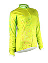 Santic-Women\'s Cycling Jacket  With 100% Polyster Winter 2011 Yellow Color