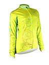 Santic-ciclismo femminile con giacca in poliestere 100% inverno 2011 colore giallo