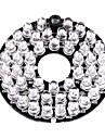 infraroșu a condus-48 iluminare bord placa de 3.6mm pentru lentilele camerei de securitate CCTV