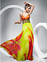 TS Couture® Prom / Military Ball / Formal Evening Dress - Print Plus Sizes / Petite Sheath/Column Straps Floor-length Chiffon