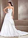 Lanting Bride® A-linje / Prinsesse Æble / Omvendt Trekant / Rektangel / Petit / Timeglas / Pære / Missere Brudekjole - Klassisk og