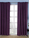 Neoclassical Two Panels Solid Beige Brown Purple Bedroom Curtains Drapes