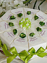 Touch Of Green Cake Favor Box (Set of 10)
