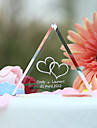 Cake Topper Personalized Classic Couple / Hearts Crystal Wedding / Bridal Shower / Anniversary Garden Theme Gift Box
