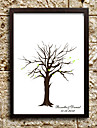 Personalized Fingerprint Painting Canvas Prints - Tree (Includes 6 Ink Colors, Frame Not Included)