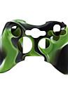 protection etui en silicone a double couleur pour Xbox 360 Controller (vert et noir)