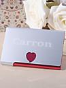 Uso de oficina(Rojo) -Tema Clasico-Personalizado Acero inoxidable