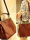 Classic Ladies\' PU Crossbody/Tote Bag