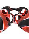 protection etui en silicone a double couleur pour Xbox 360 Controller (noir et rouge)