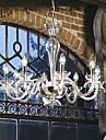 moderna ljus presenterade kristallkronor med 8 lampor transparent färg