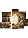 Peint a la main Abstrait Plus de Cinq Panneaux Toile Peinture a l\'huile Hang-peint For Decoration d\'interieur