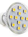 3W GU10 Spoturi LED MR16 12 SMD 5050 150 lm Alb Cald AC 220-240 V