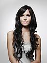 Kappenlose lange 100 % Echthaar Peruecke, Natuerlicher Look, lockiges Haar, 5 Farben zur Auswahl