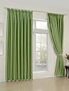 twopages® två paneler klassiska fasta gröna rum mörkare gardiner draperier