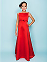 Floor-length Satin Junior Bridesmaid Dress - Ruby A-line / Princess Spaghetti Straps