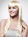 Capless extra lång högsta kvalitet kvalitet syntetiskt blont rakt hår peruk