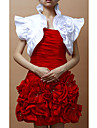 Fabulous Short Sleeves Satin Special Occasion Jacket/ Wedding Wrap With Flowers (More Colors)