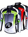 NUCKILY® Cykeltröja Herr Lång ärm Cykel Håller värmen / Snabb tork / Fleecefoder / Ultraviolet Resistant Tröja / Överdelar100% Polyester