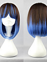 Lolita Wig Inspired by Brown and Blue Mixed Color 40cm Punk
