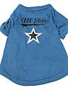 Chien Tee-shirt Bleu Vetements pour Chien Printemps/Automne Etoiles