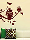 Två Owls Branch Wall Stickers
