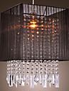 Stylish Pendant Light with Black Fabric Shade