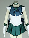 Inspire par Sailor Moon Sailor Neptune Anime Costumes de cosplay Costumes Cosplay Mosaique Blanc / Vert Manche Courtes Robe / Cravate